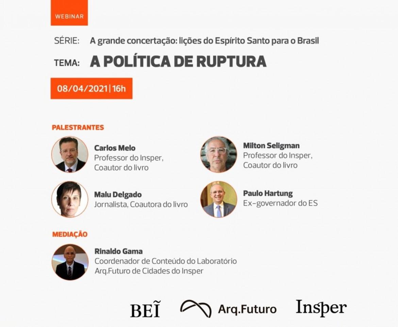 WEBINAR | A POLÍTICA DE RUPTURA